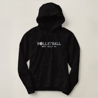 Volleyball - ajoutez votre école sweatshirts à capuche brodé