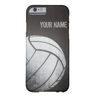 volleyball avec la nuance grunge de noir d'effet coque iPhone 6 barely there
