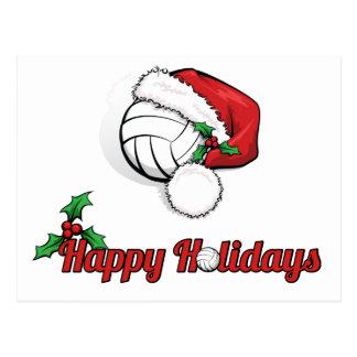 Volleyball bonnes fêtes carte postale