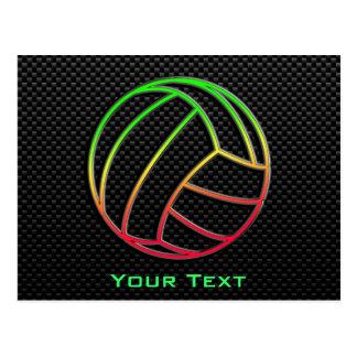 Volleyball coloré carte postale