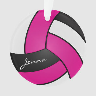 Volleyball de rose indien, blanc et noir