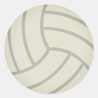 Volleyball Emoji Sticker Rond