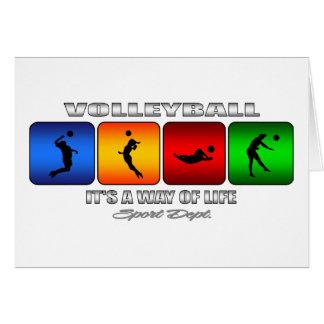 Volleyball frais c'est un mode de vie carte de vœux