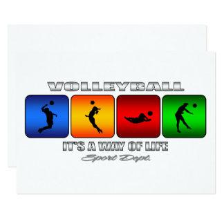 Volleyball frais c'est un mode de vie carton d'invitation  12,7 cm x 17,78 cm