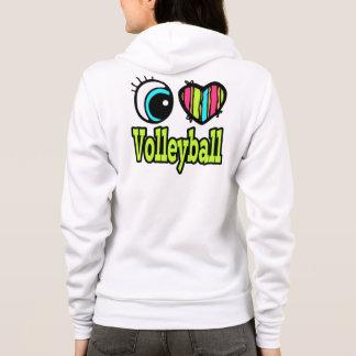 Volleyball lumineux d'amour du coeur I d'oeil Veste À Capuche