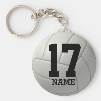 Volleyball personnalisé (nom et nombre) porte-clés