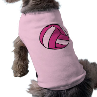 Volleyball rose t-shirt pour chien