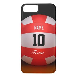 Volleyball rouge fait sur commande coque iPhone 7 plus