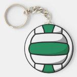 volleyball vert et blanc porte-clés