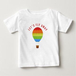 Volons loin, T-shirt chaud drôle de citation de