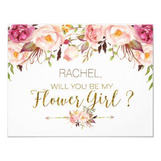 Volonté florale de ressort vous soyez ma carte de