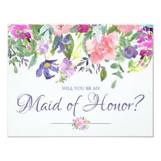 Volonté florale vous soyez ma domestique de carte