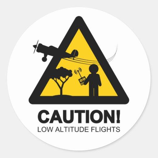 Vols de basse altitude adhésifs ronds