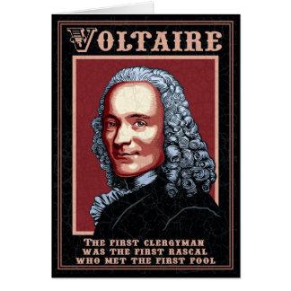 Voltaire - le premier carte de vœux