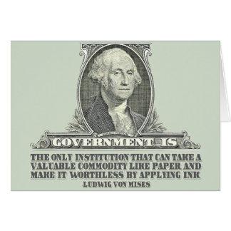 Von Mises sur la monnaie fiduciaire Carte De Vœux