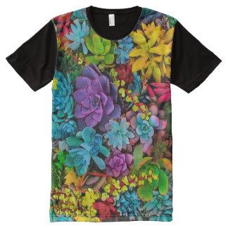 Vont hardiment les Succulents T-shirt Tout Imprimé