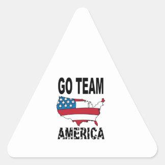 Vont l équipe Amérique Autocollants En Triangle
