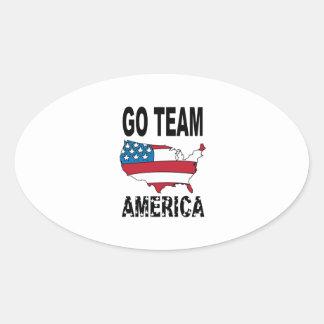 Vont l équipe Amérique Autocollants