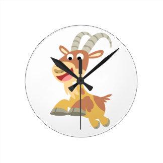 Vont la chèvre ! ! horloge murale (de chèvre migno