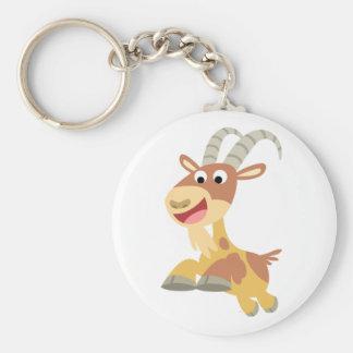 Vont la chèvre ! ! porte - clé (de chèvre mignonne porte-clé rond