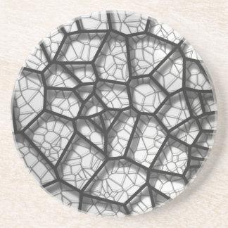 Voronoi géométrique abstrait bas p de concept de dessous de verres