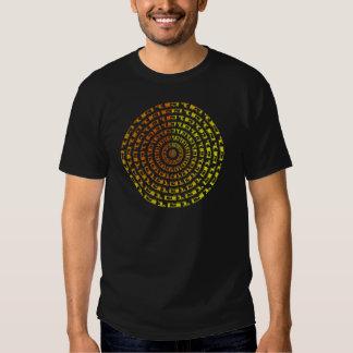 Vortex binaire psychédélique t-shirts