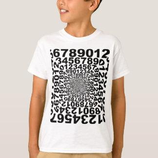 Vortex de nombres, comptant le tourbillon, maths t-shirt