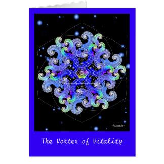 Vortex de vitalité carte de vœux