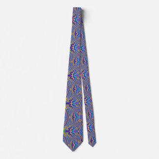 vortex multicolore sur la cravate