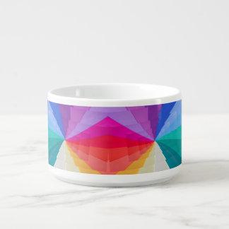 vortex multicolore sur le bol de piment