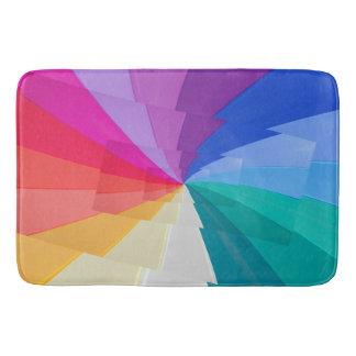vortex multicolore sur le grand tapis de bain
