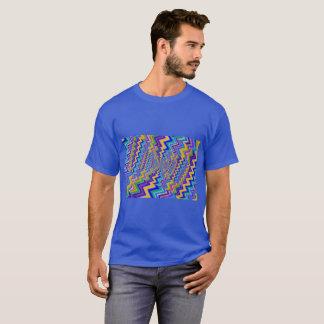 vortex multicolore sur le T-shirt foncé de base