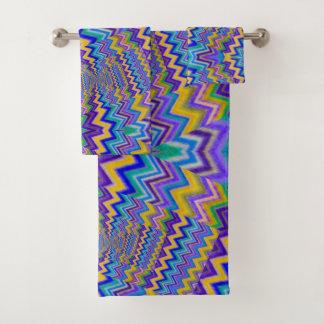 vortex multicolore sur l'ensemble de serviette de