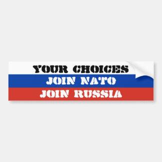 Vos choix, joignent l'OTAN ou joignent la Russie Autocollant Pour Voiture
