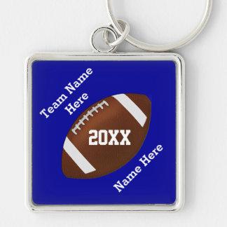 Vos couleurs et vos porte - clés du football des porte-clé carré argenté