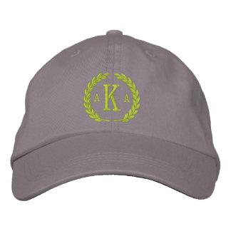 Vos lettres du monogramme 3 et broderie de casquette brodée