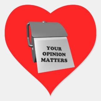 Vos sujets d'opinion sticker cœur