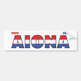 Vote Aiona 2010 élections blanc et bleu rouges Adhésif Pour Voiture