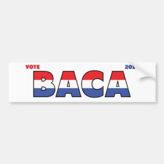 Vote Baca 2010 élections blanc et bleu rouges Autocollant Pour Voiture
