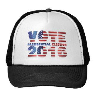 Vote blanc et bleu rouge 2016 de drapeau des casquettes de camionneur