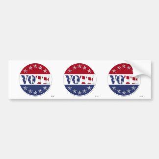 VOTE blanc et bleu rouge avec le drapeau et les ét Adhésifs Pour Voiture