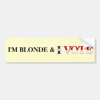 Vote blond autocollant de voiture