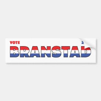 Vote Branstad 2010 élections blanc et bleu rouges Autocollant De Voiture