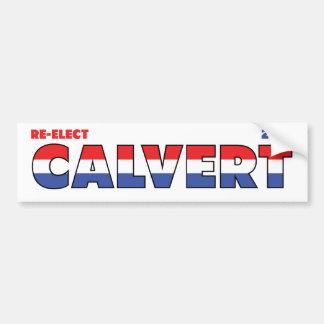 Vote Calvert 2010 élections blanc et bleu rouges Adhésif Pour Voiture