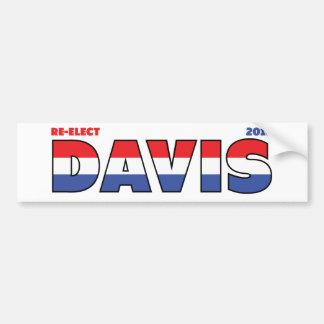 Vote Davis 2010 élections blanc et bleu rouges Adhésif Pour Voiture