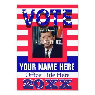 Vote de campagne politique carton d'invitation  12,7 cm x 17,78 cm