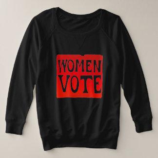 Vote de femmes - rouge faisant rage