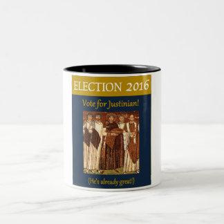 Vote de l'élection 2016 pour Justinian le grand Tasse 2 Couleurs