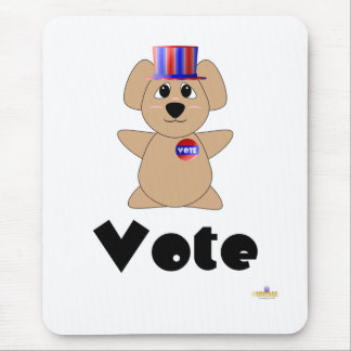 Vote de vote gentil à croquer d'ours de koala tapis de souris