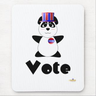Vote de vote gentil à croquer d'ours panda tapis de souris